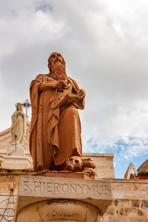 Statue of St. Jerome in Bethlehem