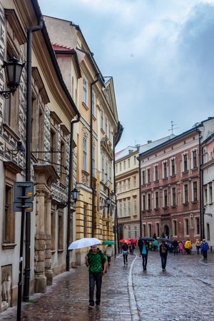KRAKOW, POLAND - JUNE, 2012: Streets of Krakow