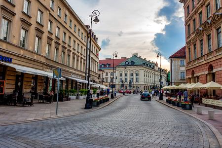 WARSAW, POLAND - JUNE, 2012: Streets of Warsaw