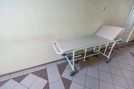 Close up empty gurney in hospital Reklamní fotografie