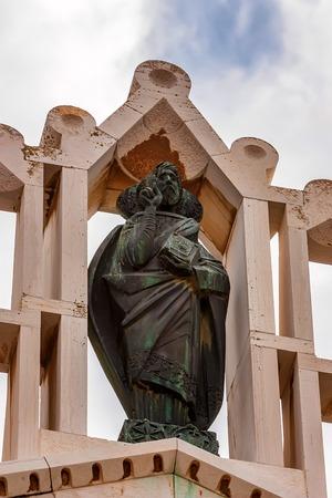 NAZARETH, ISRAEL - CIRCA NOVEMBER 2011: Statue of Jesus Editorial
