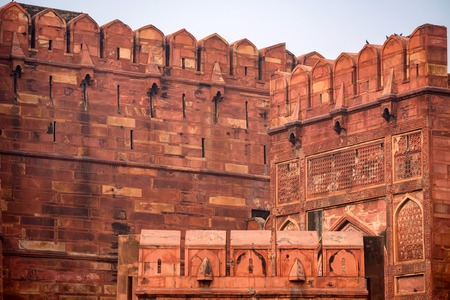 Red Fort situated in Agra, India Stock Photo