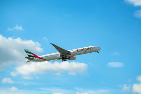 DUBAI, UAE - DECEMBER, 2016: ariplane 777