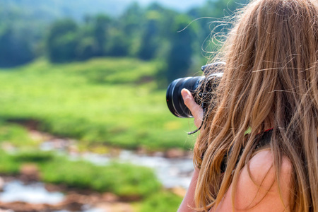 Female landscape photographer