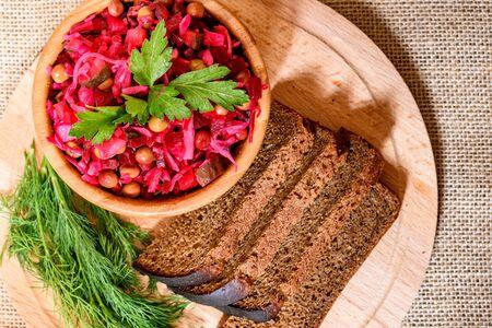 Vinegret - traditional Russian vegetable salad