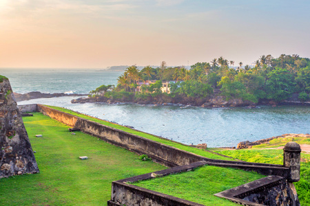 Beautiful scenery of ancient Dutch Galle Fort 스톡 콘텐츠