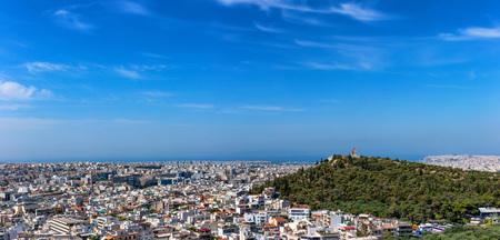 Beautiful panorama of Athens in Greece