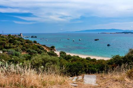 Scenic landscape of Ouranopoli, Athos, Greece Stock Photo
