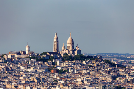 Paris panorama of Montmartre and Sacre Couer