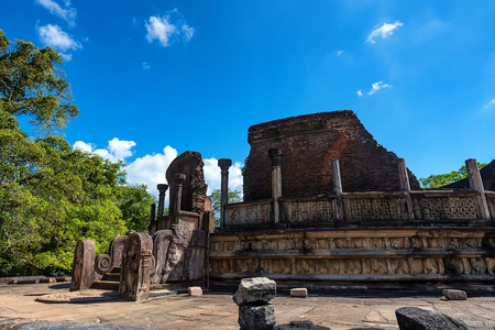 Ruins of Vatadage in Polonnaruwa