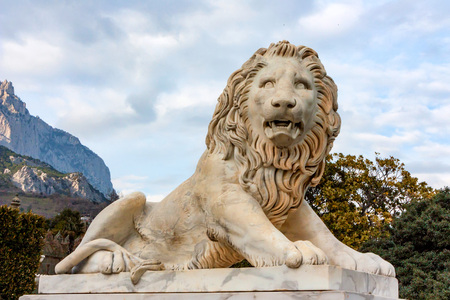 Sculpture of Medici lion in Vorontsov Palace 版權商用圖片