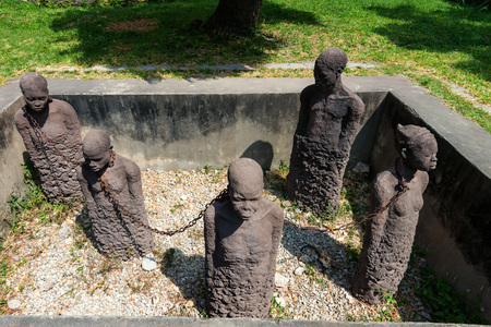 Monument of slaves dedicated to victims of slavery