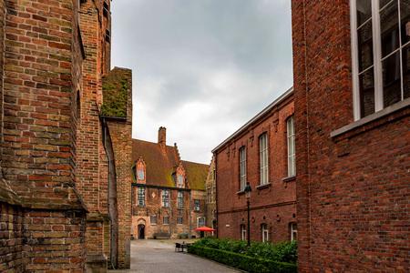 Beautifull historical buildings of Bruges, Belgium