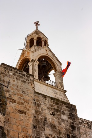 Bell tower of Church Of The Nativity in Israel