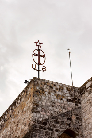 Cross on Church Of The Nativity in Israel