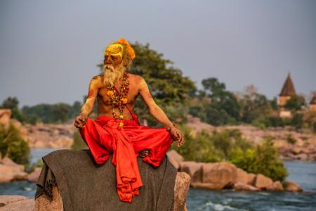 JAIPUR, INDIA - NOVEMBER 9, 2017: Unidentified sadhu man
