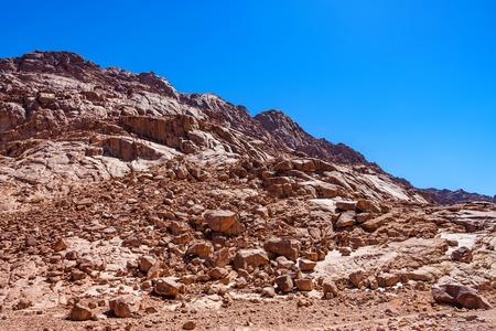 Rocks in desert on Sinai peninsula Stock Photo