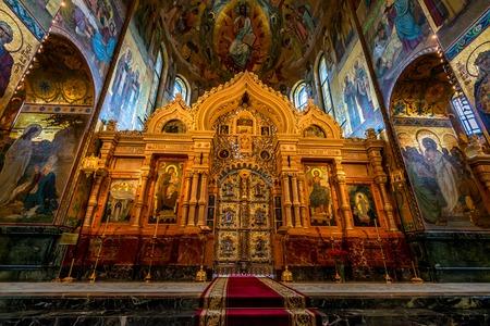 ST.PETERSBURG, RUSSIA - JUNE 19, 2015: Church of the Savior on Blood interior