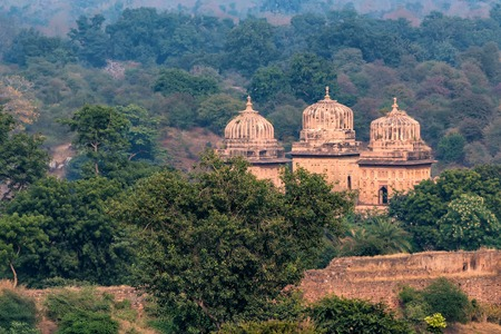 Chatris or Cenotaphs in Orchha, India Stock fotó