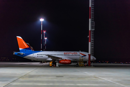 ROSTOV-ON-DON, RUSSIA - 28 APRIL 2018: Sukhoi Superjet 100 of Azimuth airlines Redakční