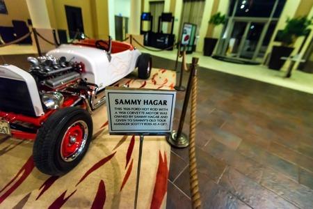 PUNTA CANA, DOMINICAN REPUBLIC - OCTOBER 29, 2015: Sammy Hagars car in Hard Rock Hotel