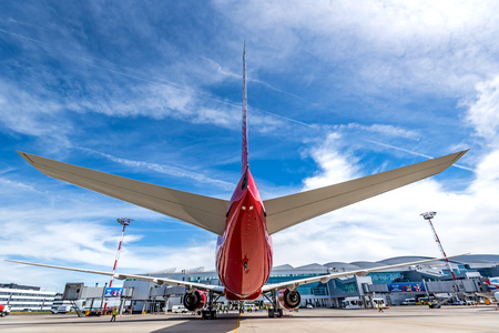 ROSTOV-ON-DON, RUSSIA - 17 JUNE 2018: Boeing 777-300ER of Rossiya airlines