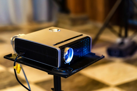 Close up modern projector