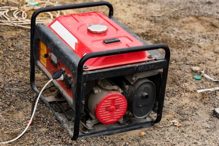 Portable elctric generator working on petrol close