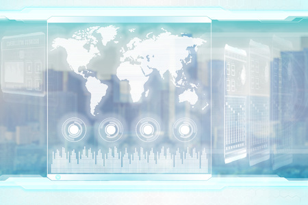 Global business concept. Light futuristic corporative background Banco de Imagens