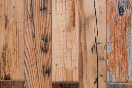 Beige wooden planks of floor close up background