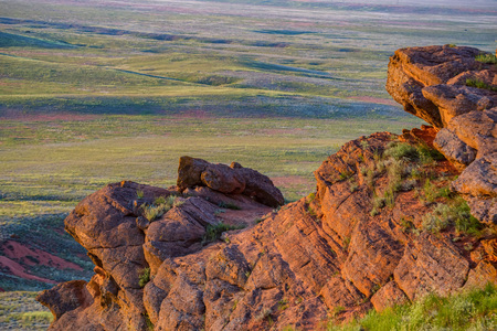 Amazing landscape of mountain Big Bogdo and steppe nature. Russia