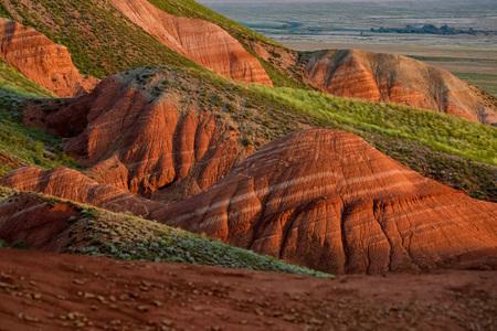 Amazing landscape of mountain Big Bogdo. Russia