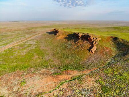 View of Bogdo-Baskunchak Nature Reserve landscape in Russia