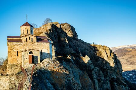 View of beautiful old sunlit Shaona Church in Russia
