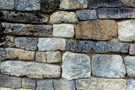 Stone wall of the ancient Greek city of Panticapaeum in Crimea Фото со стока