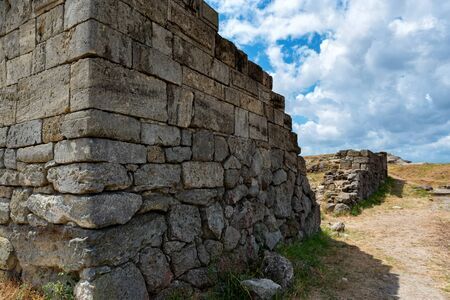 View of ruins of the ancient Greek city of Panticapaeum in Crimea Фото со стока
