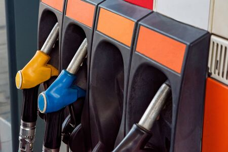 Refilling the car with fuel on a gas station
