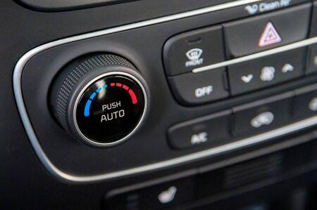 Climate control unit in the new car close 版權商用圖片