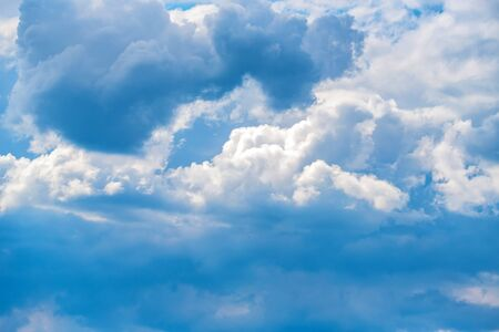 Heavenly blue sky with white clouds background