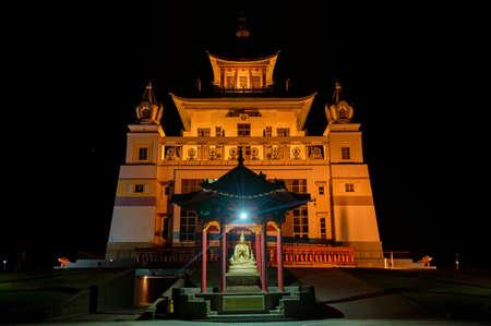 Burkhan Bakshin Altan Sume Buddhist complex at night