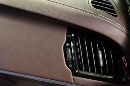 Air conditioner in a modern car close up