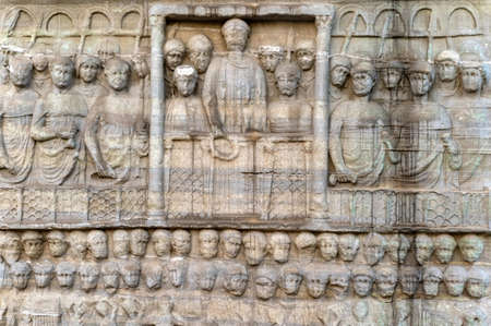 Relief of Obelisk of Thutmose III Sultan Ahmet Square Stock Photo