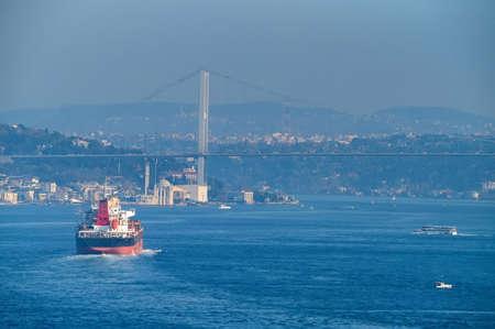 Beautiful panoramic view on Istanbul, Turkey over Bosphorus Foto de archivo