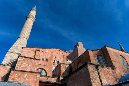 Beautiful view on Hagia Sophia Grand Mosque exterior