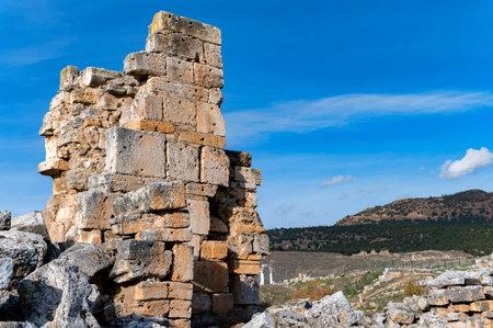 Ruins of the ancient city of Hierapolis in Turkey Foto de archivo