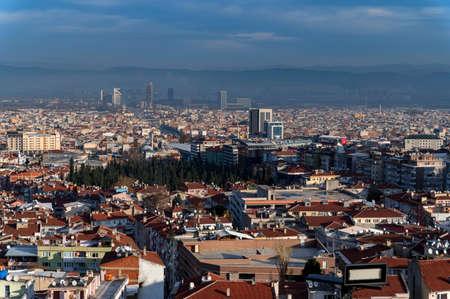 BURSA, TURKEY - 10 DECEMBER 2020: beautiful landskape view on the Bursa