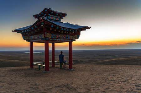 Pagoda for meditation or gazebo in Buddhist style