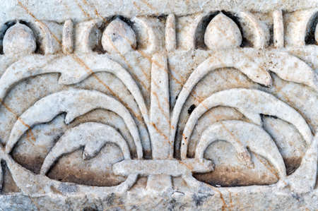 Detail of antique decoration in turkish or ottoman style of Hierapolis in Turkey