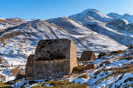 Medieval tombs in City of Dead near Eltyulbyu, Kabardino-Balkaria, Russia Фото со стока
