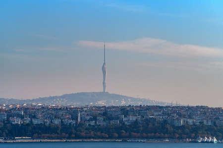 New Kucuk Camlica TV Radio Tower in Istanbul, Turkey.